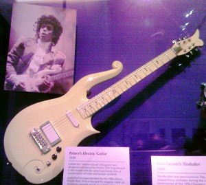 Prince's yellow guitar at the Smithsonian.  Photo credit:  ejk at flickr