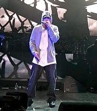 Eminem at a DJ Hero Party