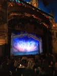 This is a shot of the stage at The Majestic Theatre...